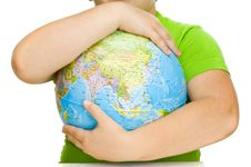 Free Globe In Hands Royalty Free Stock Photography - 14741337