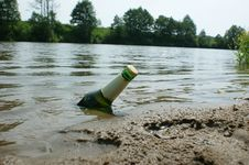 Free Cold Beer And River Stock Photography - 14742032