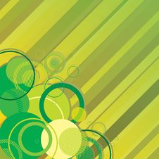 Stylish Green Banner Royalty Free Stock Photography