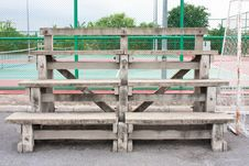 Free Bench In The Stadium Stock Photos - 14742613
