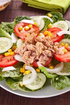 Free Salad Tuna Tomato Corn And Onion Stock Images - 14742934