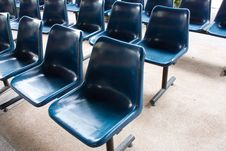 Free Blue Chairs Royalty Free Stock Photography - 14743127