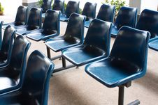 Free Blue Chairs Royalty Free Stock Photo - 14743185