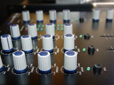 Audio Mixer Console Stock Photo
