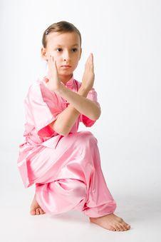 Free Girl In A Pink Kimono Stock Photos - 14743643