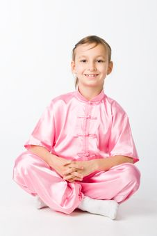 Free Girl In A Pink Kimono Royalty Free Stock Photos - 14743648