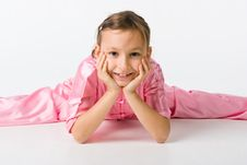 Free Girl In A Pink Kimono Stock Photography - 14743652