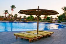 Free A  Pool Early Morning In Egyptian Resort. Stock Image - 14744261