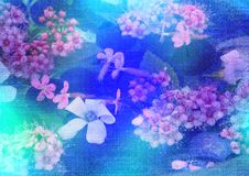 Stylized Floral Picture Stock Photography
