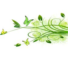 Free Grunge Foliage Vector Background Stock Photo - 14745180