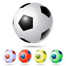 Free Five Soccer Balls. Royalty Free Stock Photography - 14745207