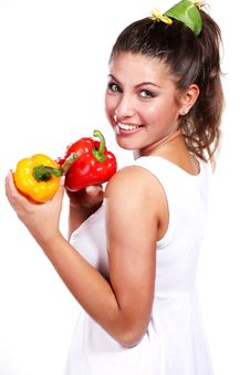 Free Woman And Pepper Stock Photos - 14745423