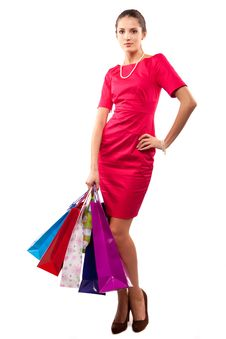 Free Woman Shopper Royalty Free Stock Photo - 14745425
