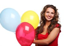Free Woman And Balloons Stock Photo - 14745480