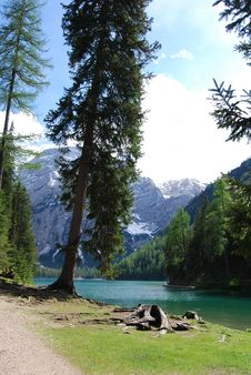 Free Landscape Of Braies Lake - Northern Italy Stock Photo - 14746160