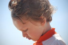 Free Toddler Boy Side Profile Outside Royalty Free Stock Photo - 14746655