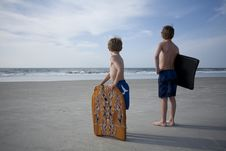 Free Young Boys At The Beach Stock Image - 14747001