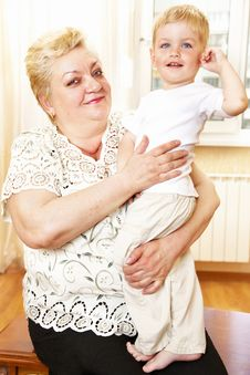Free Grandmother And Grandson Stock Photography - 14749722