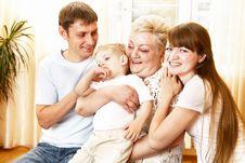 Free Happy Family Royalty Free Stock Photo - 14749835