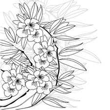 Monochrome Floral Background Royalty Free Stock Photo