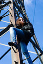 Free Woman On Electrical Tower Stock Photo - 14753480