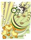 Free Love Grunge Retro Illustration Stock Photos - 14755643