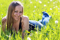 Free Woman On The Green Grass Royalty Free Stock Photos - 14759688