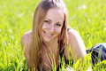 Free Woman On The Green Grass Royalty Free Stock Photos - 14759698