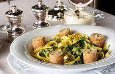 Free Macaronis  With Sausage Stock Photography - 14750562