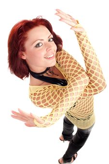 Free Young Fashion Model With Red Hair Stock Photo - 14751850