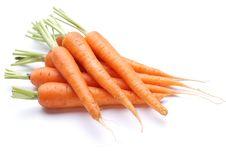 Ripe Fresh Carrots Royalty Free Stock Photos