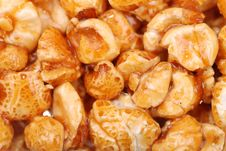 Free Background From Sweet Popcorn In Honey Stock Photography - 14752222