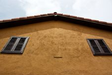 Free Orange Roof Of The Yellow House Stock Images - 14752434