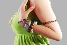 Girl With Jewelery Stock Images
