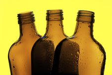 Free Three Bottles Royalty Free Stock Photo - 14753505
