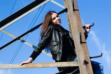 Free Woman On Electrical Tower Royalty Free Stock Images - 14753549