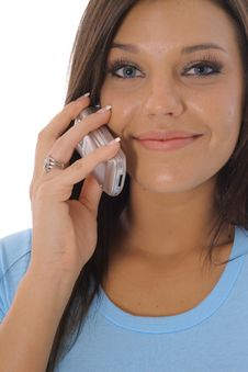 Free Beautiful Woman On The Phone Royalty Free Stock Photography - 14753887