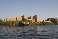 Free Egypt Temple Of Philae Exterior From Sea Royalty Free Stock Image - 14754106