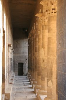 Free Egypt Temple Of Philae Columns Royalty Free Stock Photography - 14754137