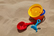 Free Plastic Toys For Beach Royalty Free Stock Images - 14755219