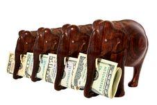 Free The Four Wooden Elephant Stock Photo - 14755510