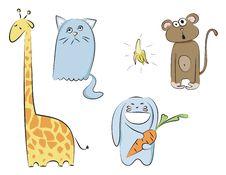 Free Cartoon Animals Vector Royalty Free Stock Photo - 14756135