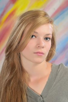 Free Portrait Of Beautiful Girl Royalty Free Stock Images - 14756239