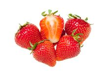 Free Ripe Juicy Strawberries Royalty Free Stock Photos - 14756258