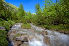 Free Alpine Mountain River Royalty Free Stock Photo - 14756635