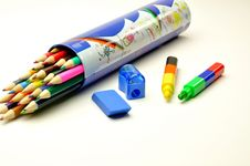 Free Colored Pencils Pencils Stock Photo - 14756940