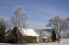 Free Farm In Winter In Germany Stock Photos - 14756993