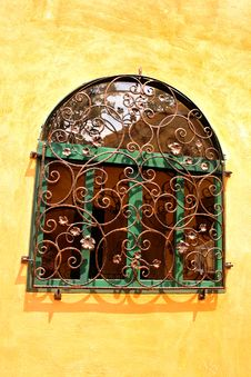 Curved Steel Window Royalty Free Stock Images