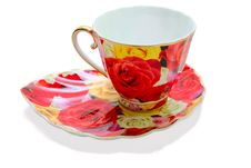 Free Tea Cup On A Saucer Stock Photos - 14757273