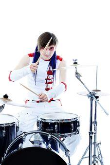 Drummer Concert Stock Image